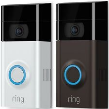 Ring Video Doorbell 2 Newest Version 1080 HD Video Wi-Fi Weather-Resistant Chime