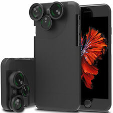 4in1 Camera Lens Kit Fisheye+Macro+Wide Angle+CPL+Phone Case For iphone 7/7 Plus