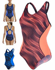 Speedo Fit Splice Allover Muscleback Training Fitness Swimsuit Swimming Costume