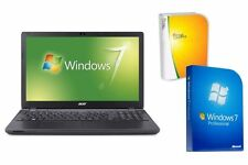 "NOTEBOOK ACER 2519 - WINDOWS 7 PRO + OFFICE - 15.6"" DISPLAY MATT - QUAD CORE"