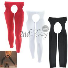Sexy Mens Open Crotch Leggings Pants Stretch Underwear Club Nightwear Crotchless