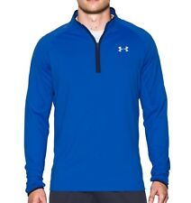 Under Armour Uomo Maglia da running Heatgear nobreaks 1/4 Cerniera Blu