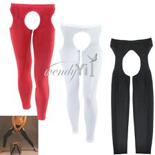 Sexy Men Open Crotch Sheer Leggings Pants Stretch Underwear Nightwear Crotchless