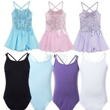 Girls Kids Gymnastic Ballet Leotard Skirt Tutu Dress Dance Wear Outfit Costume