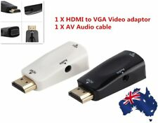 HDMI Male To VGA Female Converter Box Adapter With Audio Cable For PC HDTV BE
