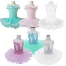 Girls Gymnastics Dancing Dress Kids Tutu Ballet Dance Wear Leotard Skirt Costume
