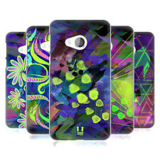 HEAD CASE DESIGNS NEON PATTERNS HARD BACK CASE FOR HTC U PLAY