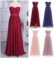 Womens Long Bridesmaid Evening Formal Party Cocktail Wedding Dress Prom Ballgown