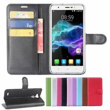 "For 5.5"" Blackview R6 Smartphone PU Leather Flip Stand Card Slots Case Cover"