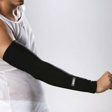 SANTINI 365 ARM WARMERS CYCLING CYCLE ROUBAIX THERMOFLEECE WITH GRIPPER - BLACK