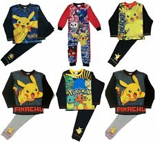 Kids Boys Pokemon Pikachu Pjs Pyjamas Sleepwear Ages 5 to 11 Years