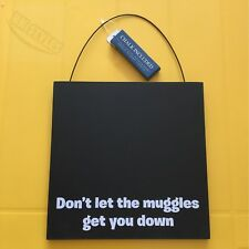 Official HARRY POTTER CHALKBOARD With Chalk - Muggles or Hogwarts Free P&P NEW