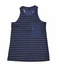 G-Star Raw Womens Ostali Stripe Tanktop, Imperial Navy/Black