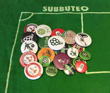 5 Set spillette spille Subbuteo - Pins (20 Button Badge) - Set: #1,2,4,5,6