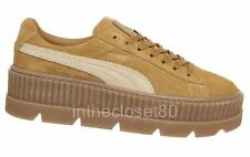 Puma Fenty Rihanna Cleated Creeper Platform Oatmeal Golden Brown Suede 366268 02