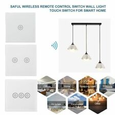 Wireless Remote Control Touch Wall Light Panel Switch Relay TS-W433 Receiver V5
