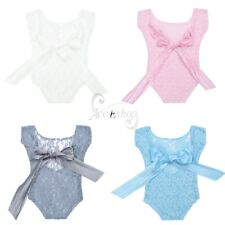 Infant Baby Girls Lace Floral Romper Bodysuit Costume Strappy Photography Props