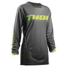 THOR impulsi MOTOCROSS DONNA JERSEY 2018 - Grigio Lime ENDURO MX Cross