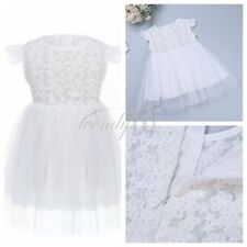 UK Baby Kids Girls Dresses Formal Wedding Bridesmaid Princess Gown Party Dress