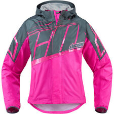 ICONO Mujer PDX 2 Impermeable Mujer Moto Cubierta Chaqueta Rosa