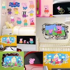 Peppa Pig Wall Stickers Car Decal Art Collection Kids Bedroom Nursery Gift Xmas