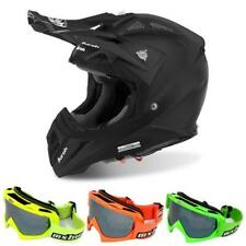 AIROH AVIATOR 2.2 COLOR Motocross Helm 2018 - schwarz matt + MX-Bude MX-2 Brille