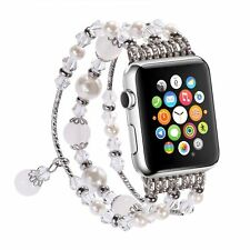 Pearl Beads Bracelet Watch Band Strap For 42mm  Apple Watch Series 1 2 3 ,free s