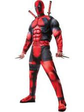 Adult Mens Deluxe Deadpool Muscle Chest Fancy Dress Costume Marvel Comic Book