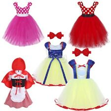 Kid Girls Princess Dress Cosplay Party Fancy Tutu Skirt Halloween Costume Outfit