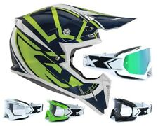 Acerbis CASCO CROSS Perfil 2.0 Chaosphere Verde Azul Mx Enduro con two-x GAFAS