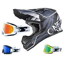 Oneal 3series CASCO freerider Fidlock Negro Gris two-x Carrera Gafas CASCO CROSS