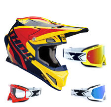THOR SECTOR Ricochet Mx Enduro Motocross Casco azul amarillo two-x