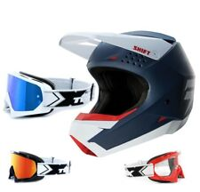 SHIFT whit3 MX MTB Enduro Motocross Casco Azul two-x RACE Gafas de Cross
