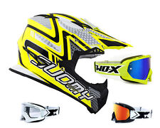 SUOMY RUMBLE Serpiente AMARILLO CASCO CROSS MOTOCROSS ENDURO two-x RACE Gafas de