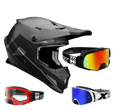 THOR SECTOR Nivel CASCO CROSS Motocross Negro Gris two-x Cohete Gafas