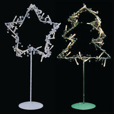 Christmas Themed 20 LED Light Metal Wire Star/ Tree Ornament Stand Display Lamp