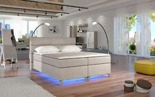 Letto Sommier AMADEO in Beige LED 160/180 Letto Hotel LETTO DOPPIO MOLLE ep736