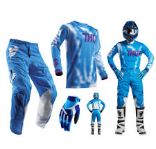 Thor Pulse Air Radiate COMBO AZUL PANTALONES CROSS MOTOCROSS Camiseta Mx Guantes