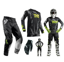 Thor Pulse Air Radiate COMBO NEGRO PANTALONES CROSS MOTOCROSS Camiseta MX