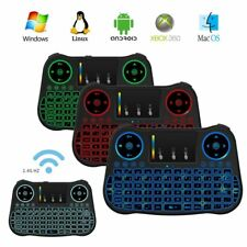 Backlit LED Mini 2.4G Wireless Keyboard Touchpad for PC Android Smart TV VC