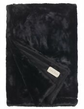 Felldecke Winterhome Seal black Felloptik Fellimitat weich warm winter schwarz