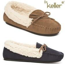 Ladies Moccasins Slippers Faux Suede Sheepskin Fur Womens Loafers Slippers Shoes