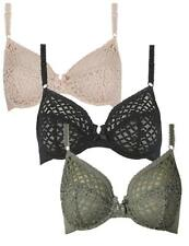 M&S Trellis Lace Underwired Non-Padded Full Cup Bra 34-40  B C D DD E