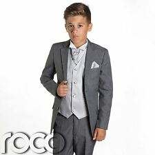 Boys Grey Suit Page Boy Suits Prom Wedding Silver