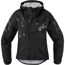 ICONO Mujer PDX 2 Impermeable Mujer Moto Cubierta Chaqueta Negro