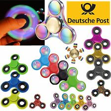 Fidget Spinner mano TROTTOLA CONCENTRAZIONE ADHS Girandola fingerspinner LED
