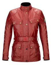 Belstaff Official Classic Tourist Trophy Motorcycle Motorbike Jacket Red Ladies