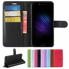 PU Leather Stand Wallet Card Slot Flip Case Cover For Leagoo T5 Smartphone