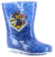 New Younger Boys/Childrens Blue Paw Patrol Chase Pvc Wellington Boots. UK SIZES
