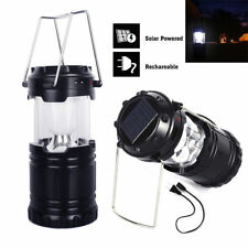 6 LED USB Solar Light Rechargeable Lantern Outdoor Camping Hiking Camp Portable
